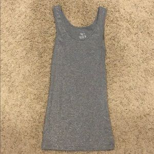 Tops - Gray and gold sparkle tank top